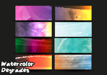 Degrade Watercolor Vector Free - Free vector #372175