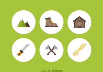 Free Mountaineer Vector Icons - vector #372185 gratis