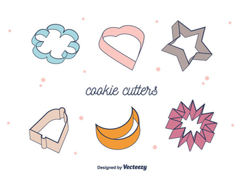 Cookie Cutter Vector - бесплатный vector #372225