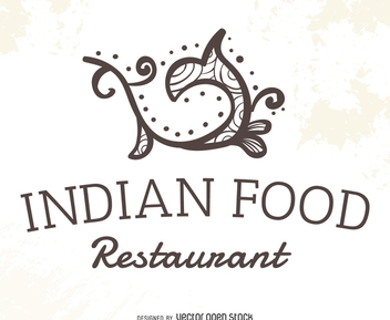 Indian food restaurant logo - бесплатный vector #372265