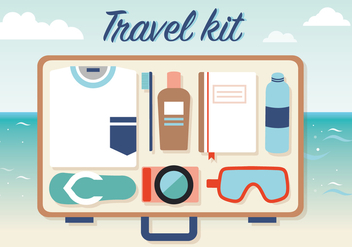 Free Travel Kit Vector - Kostenloses vector #372425