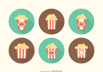 Free Vector Popcorn Box Icons - бесплатный vector #372485