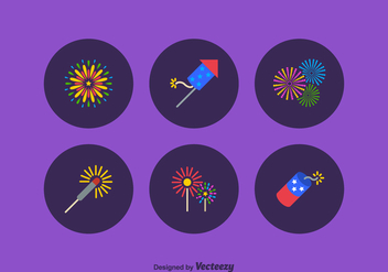 Free Firework Vector Icon Set - Free vector #372495