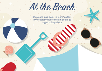 Free Beach Vector Illustration - бесплатный vector #372565