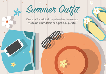 Free Vector Summer Outfit Background - vector gratuit #372635