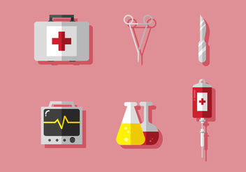 Vector Medical Icon Set - vector gratuit #372685