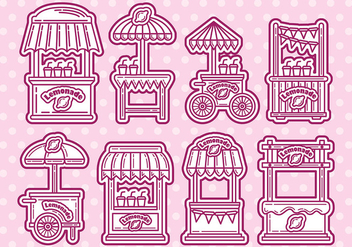 Lemonade Stand Vector Icons - Free vector #372845