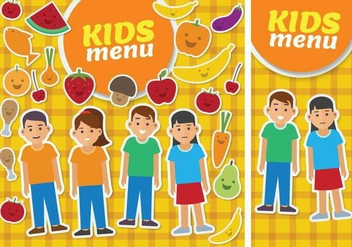 Kids Menu Card Template - Free vector #372855