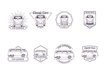 Free VW Camper Badge Vector - Free vector #372905