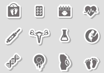 Free Pregnancy Icons Vector - бесплатный vector #372925