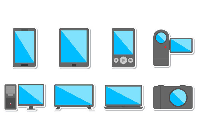 Free Electronic Devices Icon Vector - vector gratuit #372955