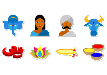 Free India and Hinduism Icon Vector - Free vector #372995