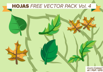 Hojas Free Vector Pack Vol. 4 - Free vector #373115