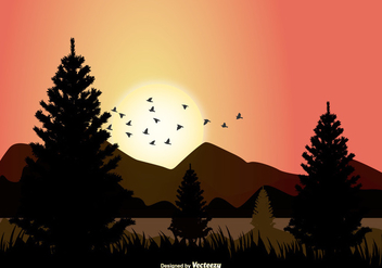 Vector Landscape Illustration - vector gratuit #373135
