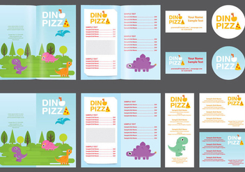 Dinosaur Kids Menu - Free vector #373215
