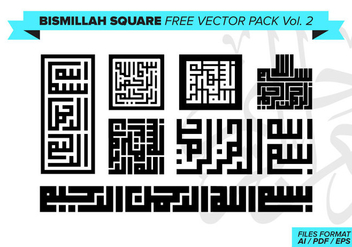 Bismillah Square Free Vector Pack Vol. 2 - Free vector #373245