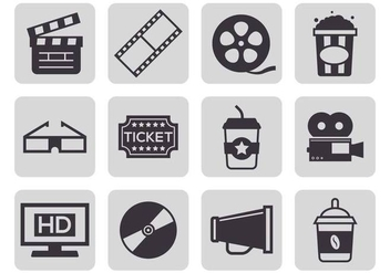 Free Cinema Icons Vector - vector gratuit #373255