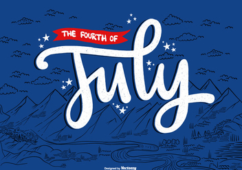 4th of July American Landscape Vector - vector #373305 gratis