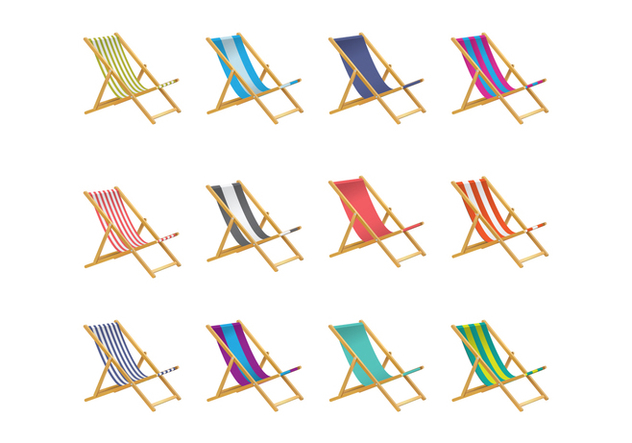 Free Deck Chair Vector - Free vector #373345