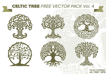 Celtic Tree Free Vector Pack Vol. 4 - Free vector #373355