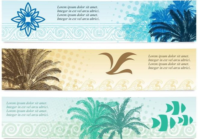 Beach Banners - Free vector #373365