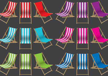 Colorful Deck Chairs - Free vector #373435