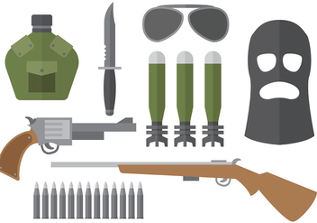 Free World War 2 Icons Vector - Kostenloses vector #373455
