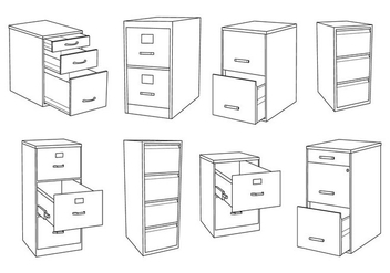 Free File Cabinet Vector - Free vector #373565