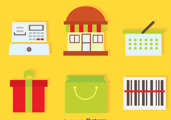 Shopping Element Icons - vector gratuit #373635