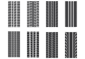 Tire Mark Set - vector #373685 gratis