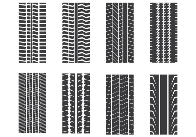Tire Mark Set - Kostenloses vector #373685