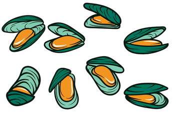 Mussel Vector Icon - бесплатный vector #373705