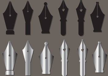 Pen Nib Vector Set - vector gratuit #373815