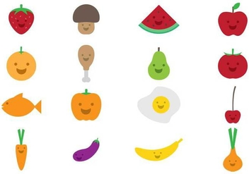 Kids Food Icon - vector #373845 gratis