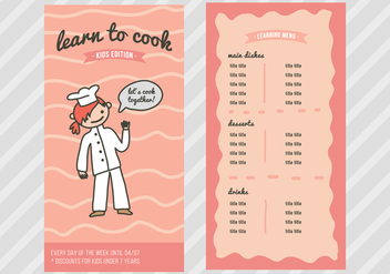 Cooking Classes for Kids - vector #373855 gratis