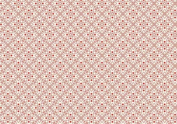 Red Outlined Pattern - vector #373935 gratis