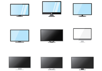 Free LED Screen Vector - vector gratuit #374045