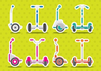 Segway Vector Icons - Free vector #374065