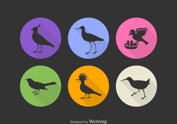 Free Bird Silhouette Vector Icons - Free vector #374075