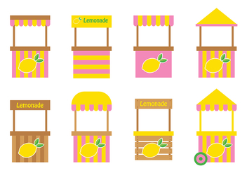 Lemonade Stand Design Vector - vector gratuit #374085