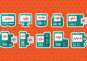 Heart Monitor Vector Icons - vector gratuit #374095