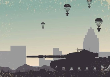 World War 2 Tank Background Vector - vector gratuit #374115