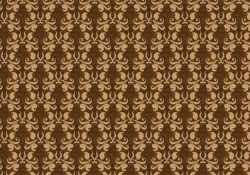 Free Vector Brown Western Flourish Pattern - Kostenloses vector #374255