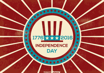 Retro Independence Day Illustration - Free vector #374385