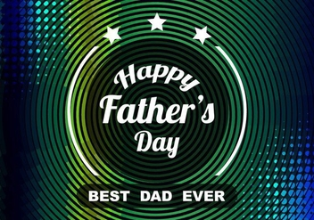 Free Vector Colorful Father's Day Celebration Background - бесплатный vector #374435