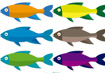 Colorful Fish Vector Set - vector gratuit #374475