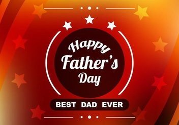 Free Vector Red Colorful Father's Day Background - Free vector #374485