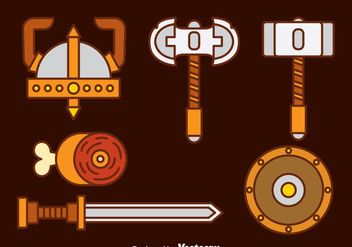 Barbarian Icons vector - Free vector #374565