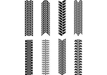 Set Of Tractor Tire Vector - Free vector #374575