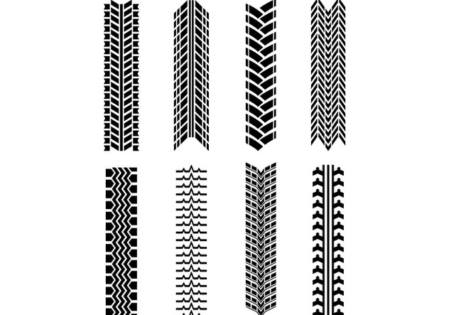 Set Of Tractor Tire Vector - бесплатный vector #374575